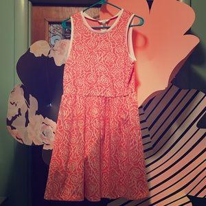 *NWOT* Charming Charlie Coral Floral Dress Size L